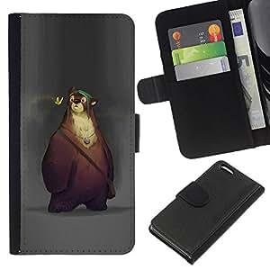 Stuss Case / Funda Carcasa PU de Cuero - Cartoon Spring animales Niños - Apple Iphone 5C