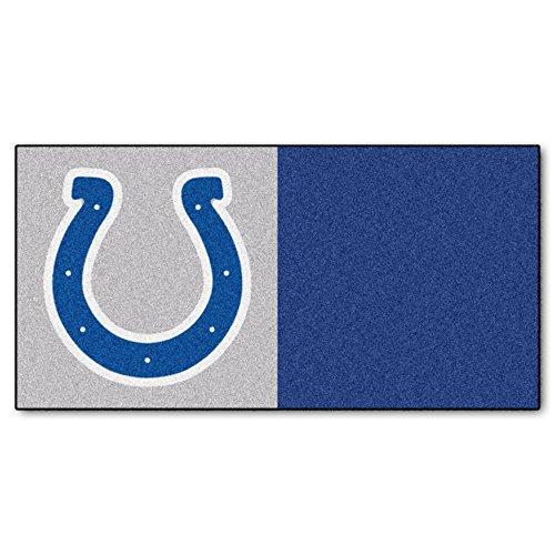 FANMATS NFL Indianapolis Colts Nylon Face Team Carpet Tiles