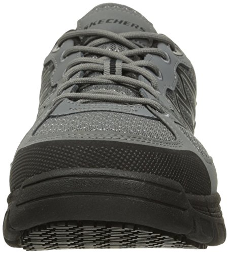 Skechers for Work Chaussure de travail Conroe Dierks pour homme, gris