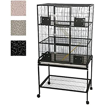 3 level small animal cage with removable base color black