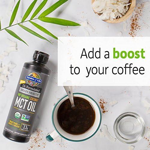 Garden of Life Dr. Formulated Brain Health 100% Organic Coconut MCT Oil 16 fl oz Unflavored, 13g MCTs, Keto & Paleo Diet Friendly Body & Brain Fuel, Certified Non-GMO Vegan & Gluten Free, Hexane-Free 6
