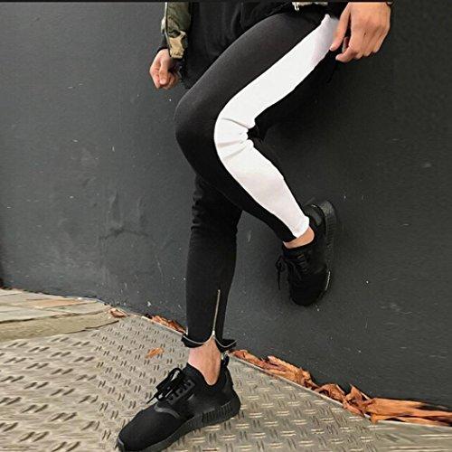 vanvler-men-sweatpants-sports-male-elastic-casual-trousers-comfy-pants-jogger-sportwear-l-white