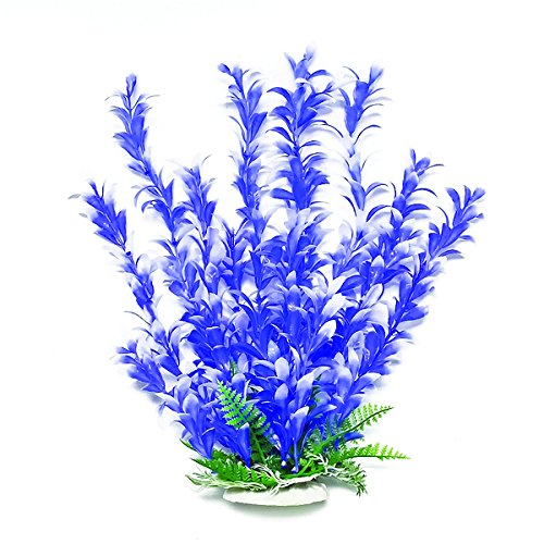 Aquatop Aquatic Supplies 819603014518 Bacopa-Like Aquarium Plant, 20'', Blue/White by Aquatop Aquatic Supplies