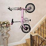 PHUNAYA Bike Hanger Wall Mount Bike Hook Horizontal Foldable Bicycle Holder Garage Bike Storage Bicycle Hoist Heavy Duty Screws