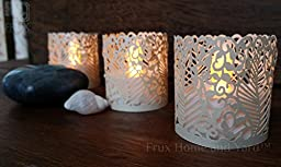 FLAMELESS TEA LIGHT SET 24 Flickering LED Battery Operated Tealight Candles With BONUS Votive Wraps Included - Decorative & Safe Lighting - Ideal for Gifts, Grandparents, Children, Mantel, Window, Party, Weddings, Events, Night Light Lantern