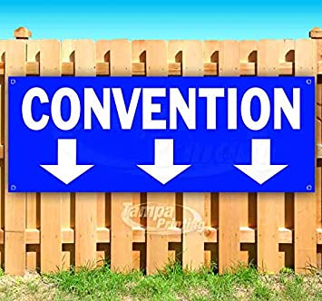Many Sizes Available Flag, Store Advertising New Convention 13 oz Heavy Duty Vinyl Banner Sign with Metal Grommets