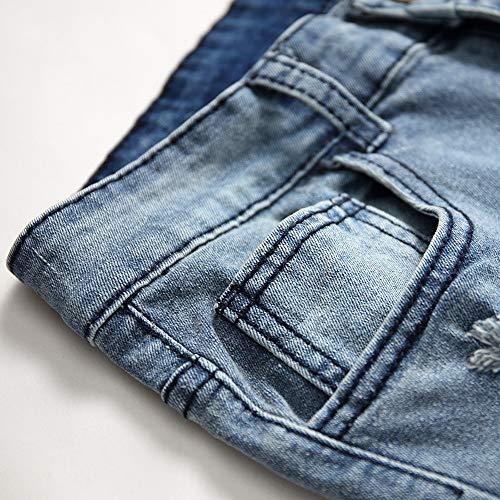 Jeans Déchiré Travail Regular Fit Cher De Jean Délavé Slim Stone Mode Pas Bleu Homme Kppong Pantalons Pantalon Skinny Droite Coupe 4qpEUwd4