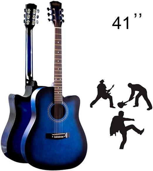 YJFENG-Guitarra Acústica De 41 Pulgadas, Claro Y Hermoso Regalo ...