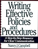 Writing Effective Policies and Procedures