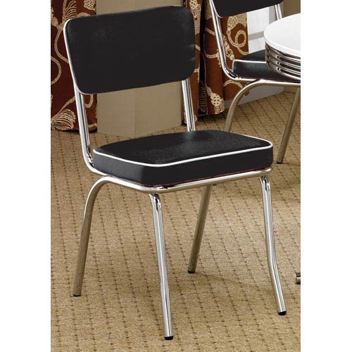 Chrome Kitchen Chairs: Contemporary Black Kitchen Chairs: Amazon.com