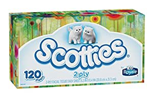 Scotties 2-Ply Facial Tissue, 120 Count (Pack of 18)