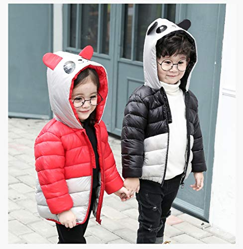 Baby Down Hooded Boy Black Ultra Toddler Fairy Light Outwear Girl Coat Jacket Panda Xwd0RZ