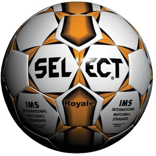 Select Royale Soccer Ball (Size-5 ,White/Orange)