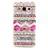 Cuitan Durable TPU Soft Case Cover for Samsung Galaxy A5, Premium Quality Anti-scratch Back Cover Fashionable Protective Case Cover Shell Sleeve for Samsung Galaxy A5 - Pink Tribal