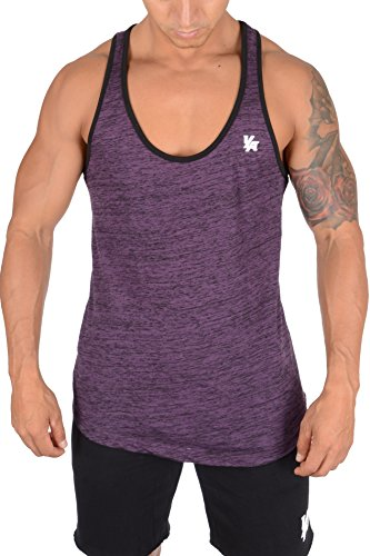YoungLA Mens Stringer Gym Tank Top Muscle Bodybuilding Powerlifting 302 (Wine Black, (302 Training)
