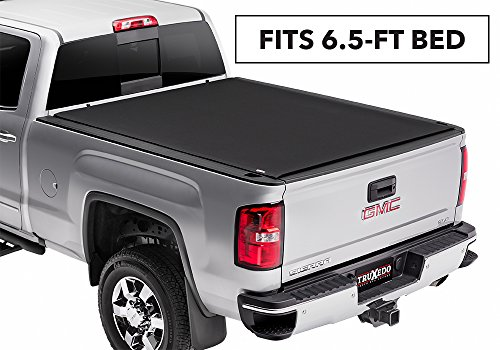 (TruXedo Pro X15 Soft Roll-up Truck Bed Tonneau Cover | 1472001 | fits 15-19 GMC Sierra & Chevrolet Silverado 2500/3500 6'6