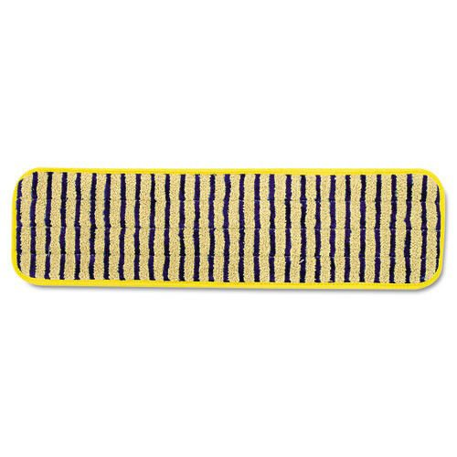 Rubbermaidreg; Commercial Microfiber Scrubber Pad, Vertical Polypropylene Stripes, 18quot;, Yellow