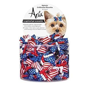 Aria 40 Count Patriotic Celebration Barrette Pet Hair Accessory