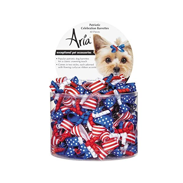 Aria 40 Count Patriotic Celebration Barrette Pet Hair Accessory 1