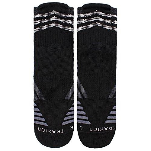 adidas Speed Mesh BasketballFootball Team High Quarter Socks (1 Pack), BlackNight GreyOnixWhite, Large