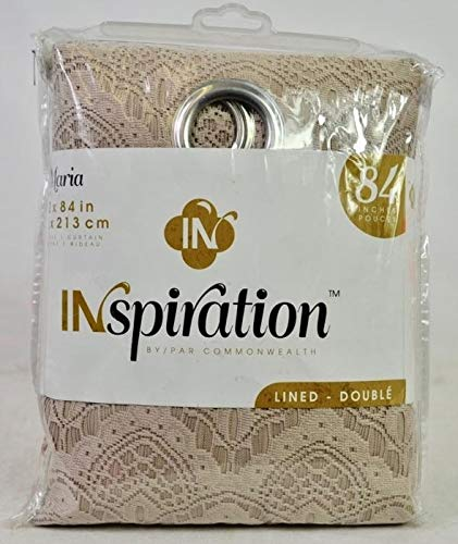 Commonwealth Home Fashions Inspiration Maria Lace 1 Lined Grommet Panel 52