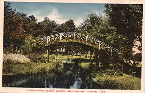 The Moorings Water Garden Arch Bridge Marion, Massachusetts Original Vintage - Stores Watergardens