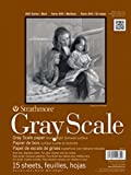 """Strathmore STR-4400-009 15 Sheet No.80 Gray Scale Pad, 9 by 12"""""""