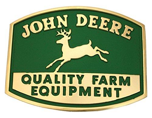 Montana Silversmiths Men's John Deere Quality Farm Equipment Logo Attitude Gold One Size (Quality Farm Equipment)