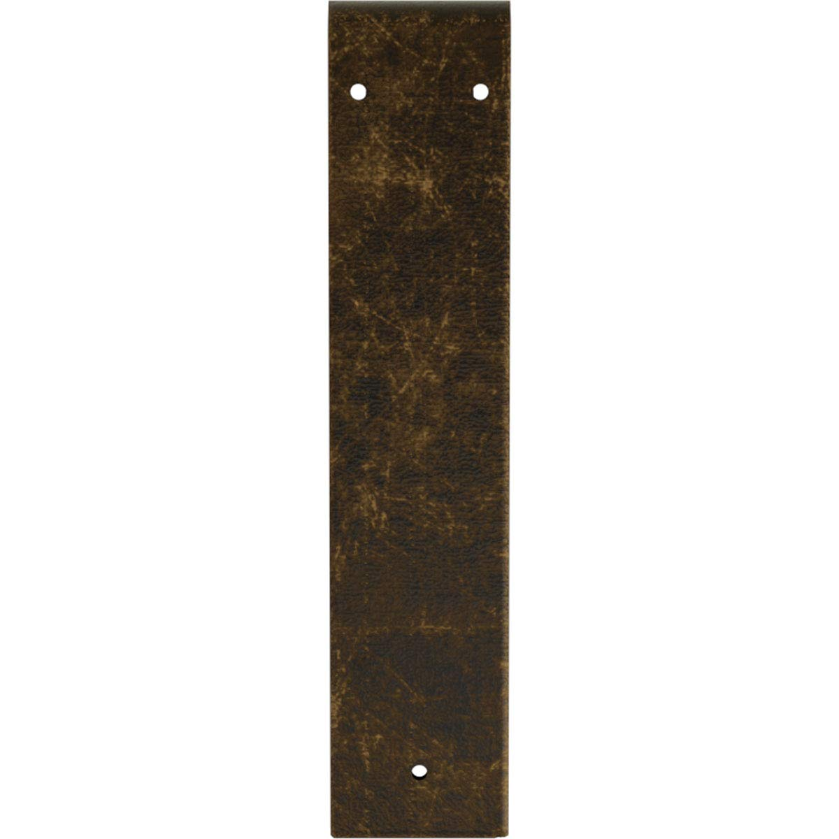 Antiqued Brass 3W x 14D x 14H Ekena Millwork BKTM03X14X14MOABS Steel Bracket