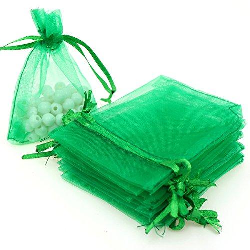 Green Organza Bags 4X6 - 2