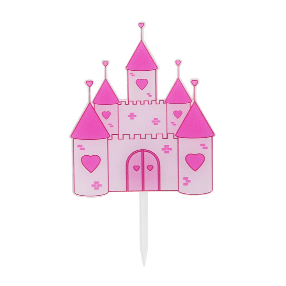 A Little Princess Cake Topper Its a Girl Pink Castle Cake Topper Baby Shower Gender Reveal Happy Birthday Wedding Party Decorations