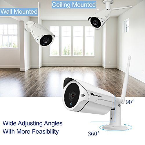 Luowice 8ch Wireless Security Camera System With 8x960p Hd