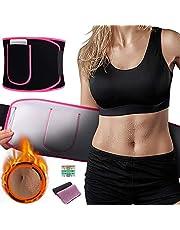 Grebarley Fitnessgürtel, Bauchweggürtel Bauchgürte, Taille Trimmer, Schwitzgürtel zur Fettverbrennung, Hot Sauna Belt, Krafttraining, Muskelaufbau für Männer und Frauen