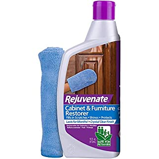 Rejuvenate Cabinet & Furniture Restorer Fills in Scratches Seals and Protects Cabinetry, Furniture, Wall Paneling