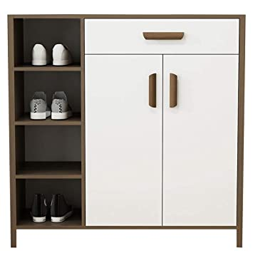aoeiuv wooden shoe cabinet modern space saving storage cabinet rh amazon co uk Clothing Storage Cabinets Small Bedroom Storage Cabinets