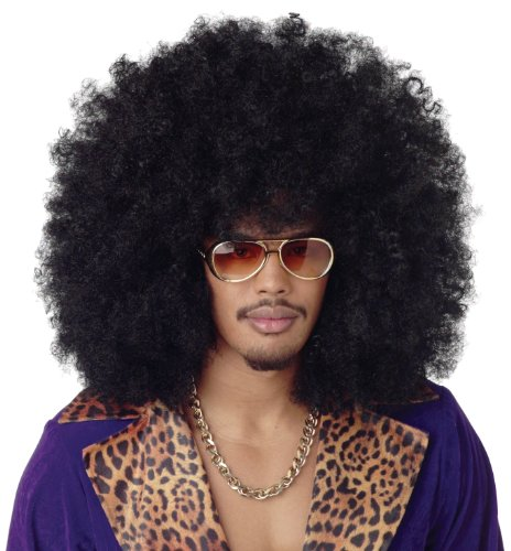 California Costumes Men's Super Jumbo Afro Wig,Black,One (Jumbo Afro Adult Wig)