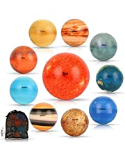 Solar System Stress Ball for Kids and Adult 10 Piece, with mesh Storing Bag, Anti Stress Solar Planets Balls