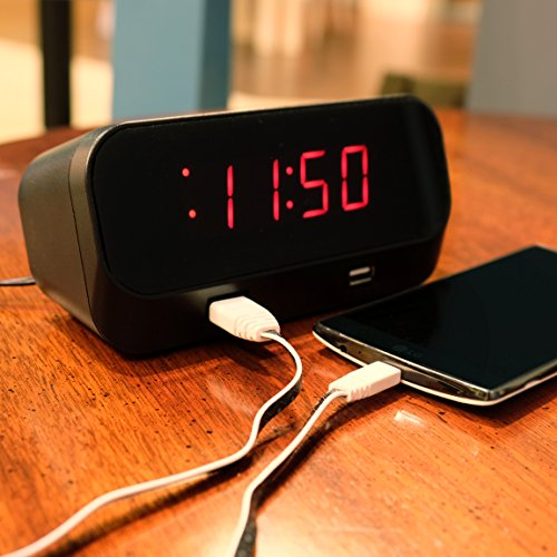 Deluxe Port Record (Minigadgets, Inc Fully Functional Alarm Clock with WIFI Hidden Camera- NO PINHOLE with 16GBMivroSd card.)