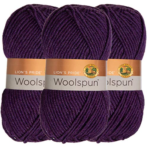 Which are the best worsted weight yarn purple available in 2019?
