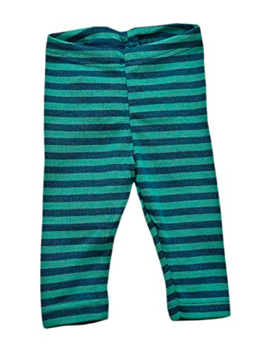 ENGEL Pants MERINO WOOL SILK baby leggings organic eco 72 3550 (12-24 Months, Blue/Kingfisher) (Striped Trousers Wool)