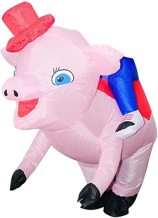 JUNERAIN Disfraz de Cerdo de Dibujos Animados, niños: Amazon.es: Hogar