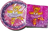 Dancing Teddy Bear Plates (16) and Napkins (16)  sc 1 st  Amazon.com & Amazon.com: Hugs u0026 Stitches Teddy Bear Small Paper Plates (8ct ...