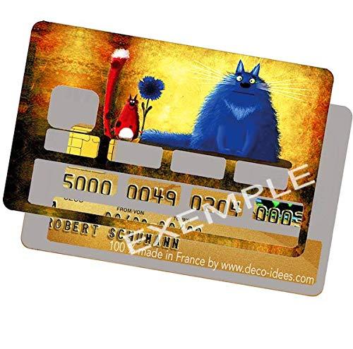 Adesivi decorativi per carte di credito motivo I Love Ricard