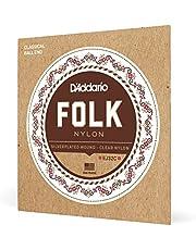 D'Addario EJ32C Folk Nylon Guitar Strings Ball End Silver Wound/Clear Nylon Trebles
