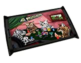 Home of Bengal Cats 4 Dogs Playing Poker Black Wood Serving Tray