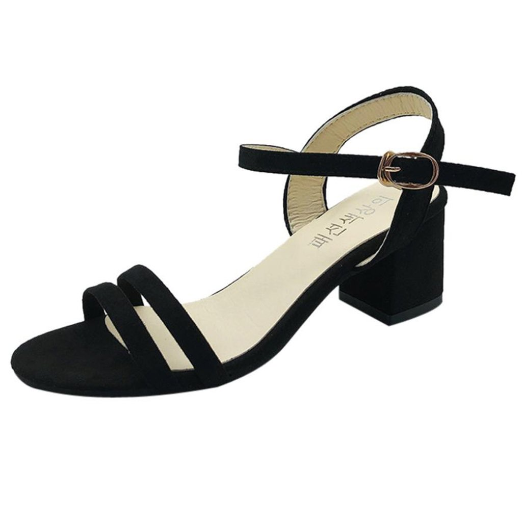 62db5d84649a Clearance Sale!OverDose Ladies Block High Heel Sandals Flowers Adorn ...
