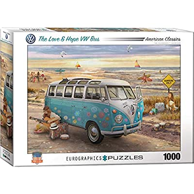 EuroGraphics The Love & Hope VW Bus by Greg Giordano 1000-Piece Puzzle, Multi-Colored, Model:6000-5310: Toys & Games