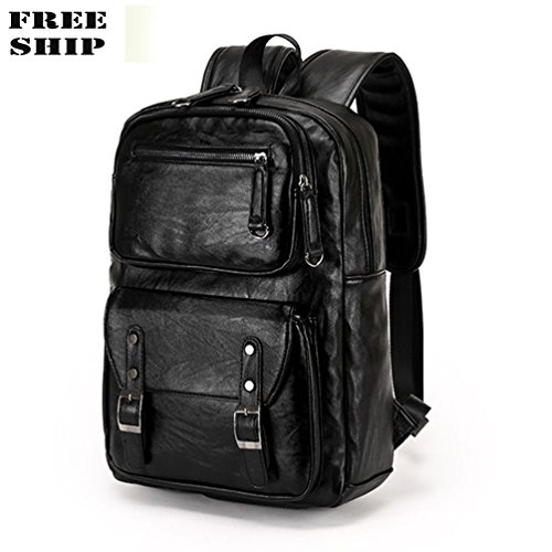 Price comparison product image Men'S Leather Backpack Travel Shoulder Bag Handbag Satchel School Laptop Bag