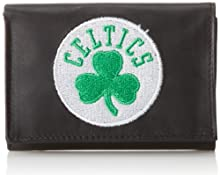 NBA Boston Celtics Embroidered Genuine Cowhide Leather Trifold Wallet