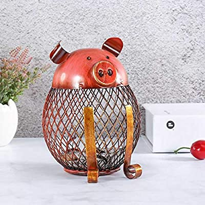 Tooarts Vintage Piggy Bank Children Toy Money Bank, Metal Coin Holder Boy Girls Coin Money Cash Saving Box for Decoration Gift: Home & Kitchen